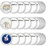 FJSM 30pz Spille Personalizzabili per Bambini Spille Rotonde Basi di Acrilico Spilla Distintivo Vuoto Bottoni in Badge Spille