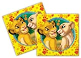 Le Roi Lion - Lot de 20 serviettes en papier pour fête d'anniversaire