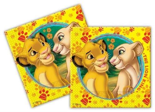 Der König der Löwen Birthday Party Set von 20 Papierservietten