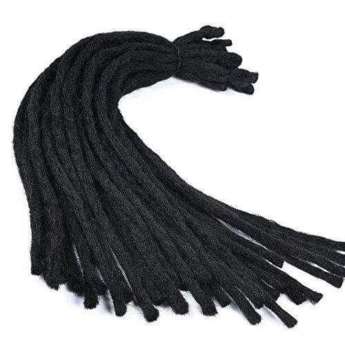Silike, treccine dread per capelli, fatte all'uncinetto, sintetiche, per spose, (30 treccine/1 pezzo), lunghe 45,7cm, da donna, per spose, per ballerine