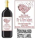 Eternal Design Personalisiertes Flaschenetikett Hochzeit Tag Wein/Spirit wdwl 23