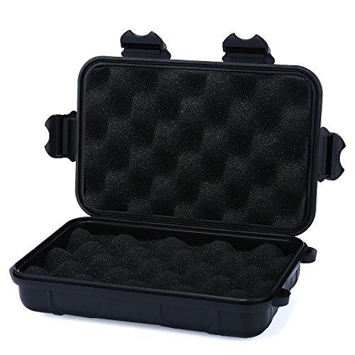 niceEshop(TM) Dry Storage Box Wasserdicht Schwimmdock Überleben Dry Case für Bootfahren , Kajak, Fischen, Jagen, Camping und Wandern (L, Schwarz)