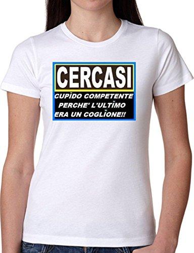 JODE T Shirt Girl GGG22 Z1348 CERCASI Cupido Ultimo COGLIONE Funny Fashion Cool