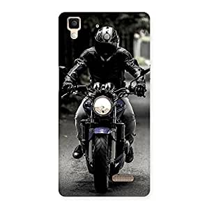 Gorgeous Rider Bike Multicolor Back Case Cover for Oppo R7