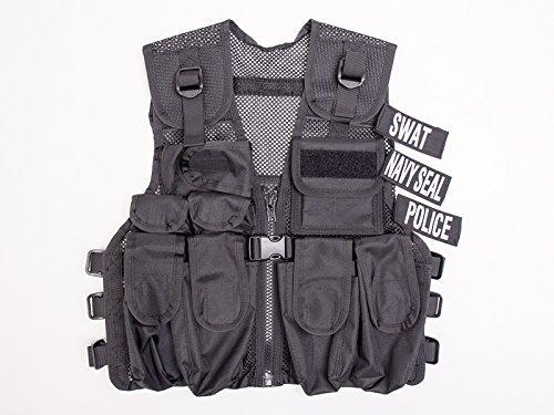 Kostüm Polizei SWAT Police Navy Seals Abzeichen Officer Agent Militär Armee Weste für Kinder Jungen Frauen Verkleidung Taktische Weste (Armee Mann Kostüm Kinder)