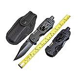 fahrtenmesser: 5-in-1 taktische tasche klappmesser mit led - licht, anschnallen cutter, glass breaker & bolt fahren für outdoor - abenteuer haushalt - camping