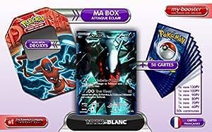 La BOX Attaque Eclair DARKRAI Full Art BW73 + 1 booster optimisé 6 cartes rares + 1 booster optimisé de 50 cartes Pokemon communes francaises