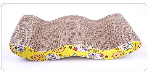 Tiragraffi Oriental eLife a forma di letto allungato, durevole, inclinato con erba gatta. Protezione per mobili come divani e pavimenti, giocattolo ecologico per gattini, salutare e divertente