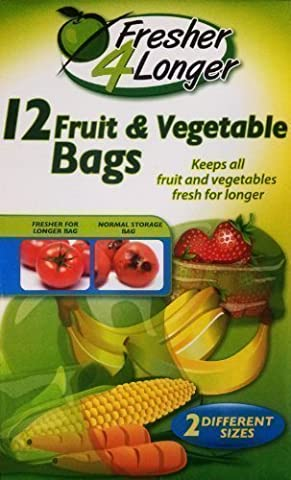 Sachets fruits & légumes - Fresher 4 Longer - 2 tailles différentes (Lot de (Gas Naturale Frigoriferi)