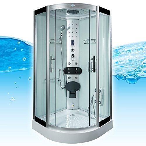 AcquaVapore DTP8058-5002 Dusche Dampfdusche Duschtempel Duschkabine 90x90 XL, EasyClean Versiegelung der Scheiben:2K Scheiben Versiegelung +89.-EUR - 3