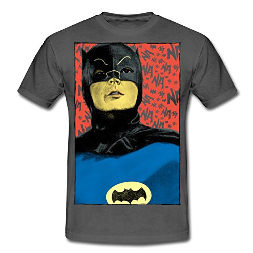 DC Comics Batman Vintage Kostüm Porträt Männer T-Shirt von Spreadshirt®, M, (Adam Batman Kostümen West)