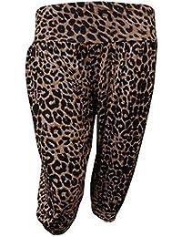 Frauen plus Größe 3/4 ali baba Harem Hose gedruckt kurzen Hosen hareem