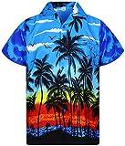 Funky Camicia Hawaiana, Beach, blu, M