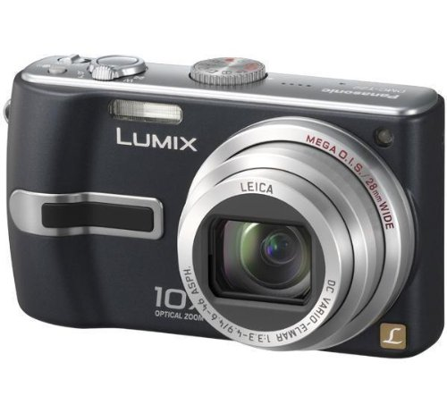 Panasonic DMC-TZ2 EG-K Digitalkamera (6 Megapixel, 10-fach opt. Zoom, 6,4 cm (2,5 Zoll) Display, Bildstabilisator) grafitschwarz Panasonic Sd-viewer