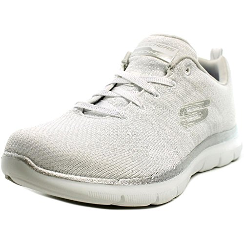 Skechers Flex Appeal 2.0 Opening Night Synthétique Chaussure de Course White-Silver