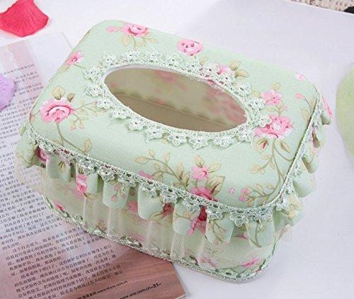 WIKE elegant Wike Elegant Lace Cloth Tissue Box Napkin Holder