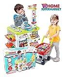 Grand Supermarché avec panier de supermarché, Marchande, Supermarché enfant,...