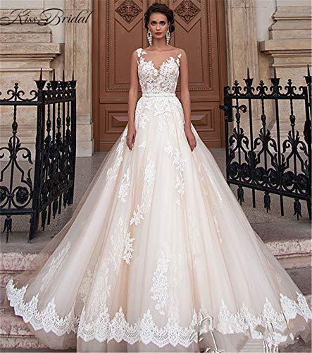 Hochzeitskleid, Brautkleid Eine Form Schulter Große Größe Spitze V-Ausschnitt Braut Prinzessin Kirche Heiraten Rock Langen Abschnitt Frauen 's -