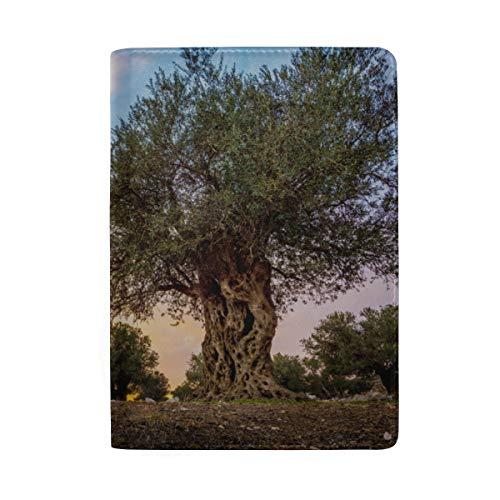 Olive Olivenbäume In Olive Gardens Blocking Print Passinhabers Hülle Reisegepäck Passport Wallet Kartenhalter Aus Leder Für Männer Frauen Kinder Familie