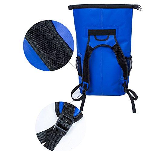 Outdoor Wasserdicht Rucksack Floating Ausrüstung groß Kapazität Beach Waten Rafting Paket Blau