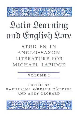 Latin Learning And English Lore: Studies in Anglo-Saxon Literature for Michael Lapidge (Toronto Old English Studies) by University of Toronto Press, Scholarly Publishing Division (2005-08-20)