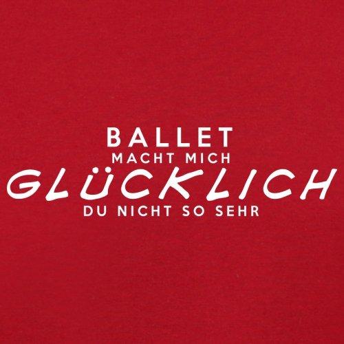 Ballet macht mich glücklich - Unisex Pullover/Sweatshirt - 8 Farben Rot
