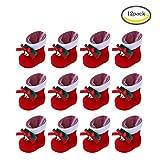CHBOP 12 Pack Christmas Candy Boots Decorazioni di Natale Regali per Bambini Addobbi per L'Albero di Natale Calza di Natale per i Bambini