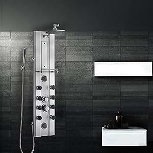Grafner ® duschpanel a75 douche xL design colonne de douche en acier inoxydable