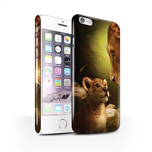 Officiel Elena Dudina Coque / Clipser Brillant Etui pour Apple iPhone 6S / Pack 16pcs Design / Les Animaux Collection Oui Maman/Lion/Petit
