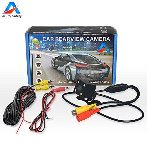 Auto Safety Rückfahrkamera Mini Farbkamera Einparkkamera mit 4 LED Nachtsicht und 170° Winkel für Rückfahrsystem Einparkhilfe - Wasserdicht & Stoßfest