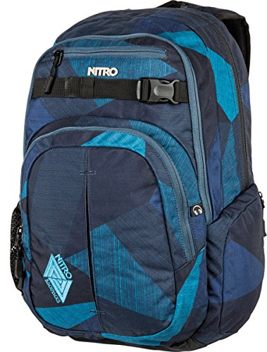 Nitro Chase Zaino Casual, 51 cm, 35 litri, Fragments Blue Fragments Blue