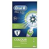 Oral-B PRO 600 CrossAction - Cepillo de dientes eléctrico recargable con tecnología Braun, edición verde