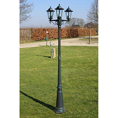 vidaXL Gartenlaterne 215 cm Romantico 60 Watt Dunkelgrün - 2