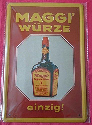 Blechschild 20x30 cm Maggi Würze Küche kochen Werbung Plakat Reklame historisch Metall Schild (Werbung Plakat)