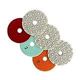 Baoblaze 3pcs Diamant Handschleifpad Schleifstein, Für polieren - 100 x 100 x 30mm Schleifen scharf