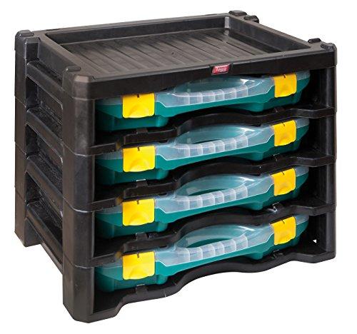 Organizer inklusiv 4Boxen für Kleinteile verschiedene Teile, Sortierung box-assortment Box (groß) Organizer-tool-box