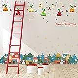 ElecMotive ADDOBBI NATALIZI regali di Natale rimovibile Wall Sticker Natale Adesivo Parete Sticker Finestra Immagini DIY per soggiorno camera da letto dei bambini con scatola regalo Weihnachten 2