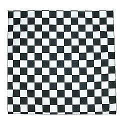 CTM Checkerboard Print Bandana by CTM