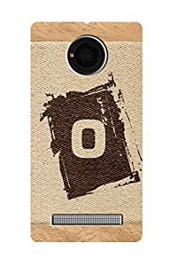 FABCASE Premium alphabet O brownish colour salwood corners arial bold font Printed Hard Plastic Back Case Cover for Yu Yunique