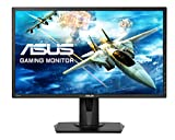 "ASUS VG245H - Monitor gaming de 24"" Full HD (1920x1080, 1 ms, Free-Sync, 75 Hz, TN, 16:9, brillo 250 cd/m2, 2 altavoces estéreo 2 W RMS, con base ergonómica), color negro"