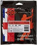 Rotosound Jazz Bass Jeu de cordes pour basse Monel Filet plat Tirant standard 45 65 85 105