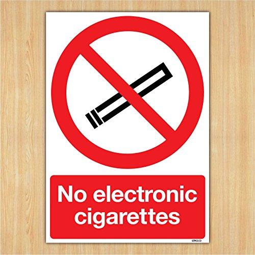Keine Elektronische Zigaretten Schild–Rauchen Bereich Signs By Lichtschalter CO, plastik, 210mm x 297mm A4