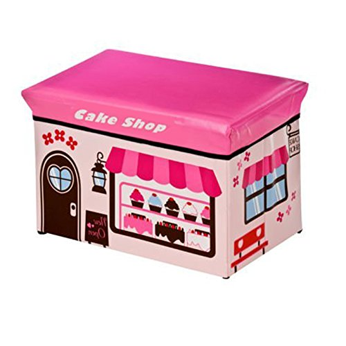 FunkyBuys® Large Kids Children CAKE SHOP Large Storage Box Books Toy Stool Chest Children Fun Seat by FunkyBuys