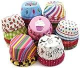 Royals Fancy Color Muffin Paper Cups / Liners (Single/Assorted Color / Prints) - 300 Pcs