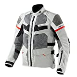 FJT193 - 3620-XYL - Rev it Cayenne Pro Motorcycle Jacket - Light Grey-Red