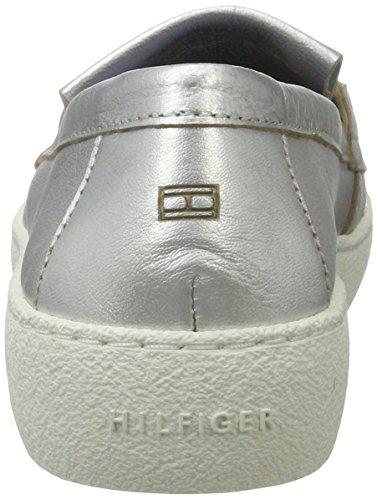 Tommy Hilfiger S1285uzie 4z1, Mocassini Donna Argento (Light Silver)