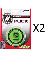Franklin Glow In The Dark Street Roller Hockey Puck Durable 12226 (2-Pack)