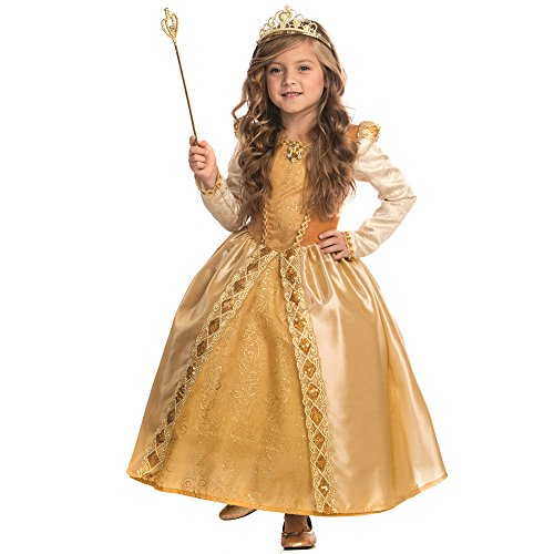 Kostüm Princess Golden - Dress Up America Majestic Golden Princess Kostüm für Mädchen