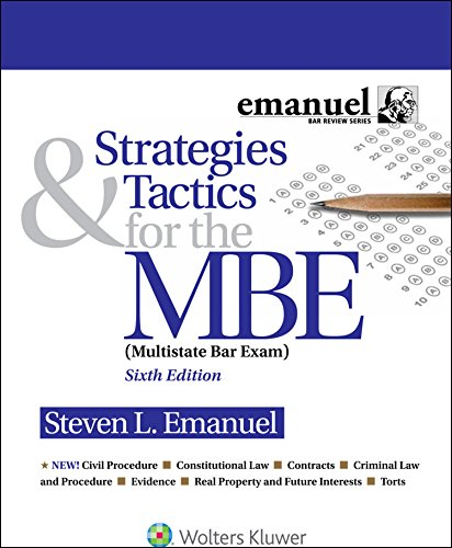 Strategies and Tactics for the MBE (Strategies & Tactics for the MBE Book 1) (English Edition)