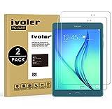 [Lot de 2] Verre Trempé Samsung Galaxy Tab A 9.7'' (SM-T550) [Garantie à Vie], iVoler Film Protection en Verre trempé écran Protecteur - ANTI RAYURES - SANS BULLES D'AIR -Ultra Résistant Dureté 9H Glass Screen Protector pour Samsung Galaxy Tab A 9.7'' (SM-T550)